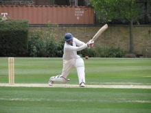 Jai Singh in fine form with a blistering cover drive