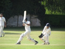 Rohan pierces the field with a delicious off drive