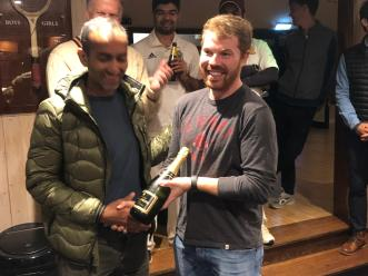 Rohan accepts the Bubbly from Ant Drake (as well as the Cobra) for his well-crafted 74