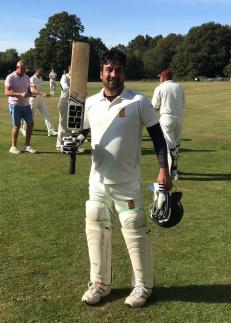 A blistering 61* in 30 balls by Waj to give us a respectable total