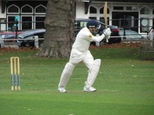 Nitin in full flow to get his maiden century for the club