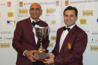 Navneet Bali and Tabrez Khan - Life-Time Achievers hold the Adelaide Cup