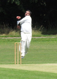 Wajid steams in - first ball of the Covid-hit year