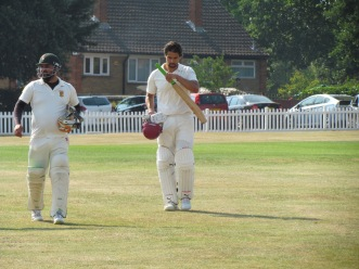 The two not outs, Wajid and Adam ensure we have a competitive total