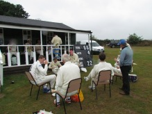 Lunch outside the pavilion