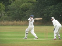 Jai dismisses a ball in an imperious manner
