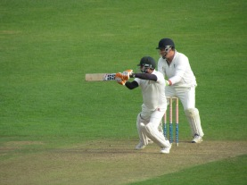 Harsha steers past point in a 113 run stand with Praveen