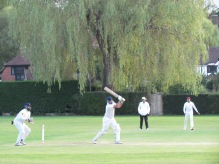 Mark Flack counter attacks with a solid 63