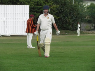 Skipper Chris completes his 25 well satisfied with the score